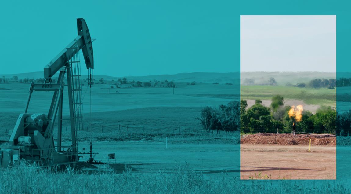 Puits de pétrole et gaz associé