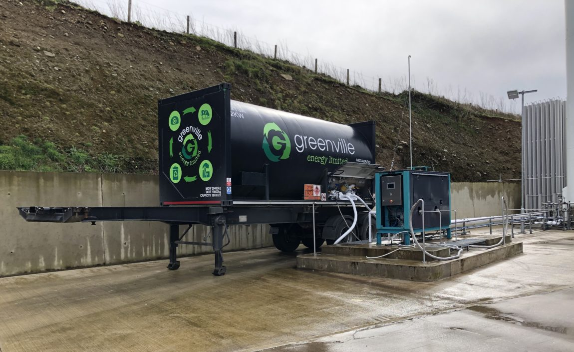 Mobile bio-LNG container